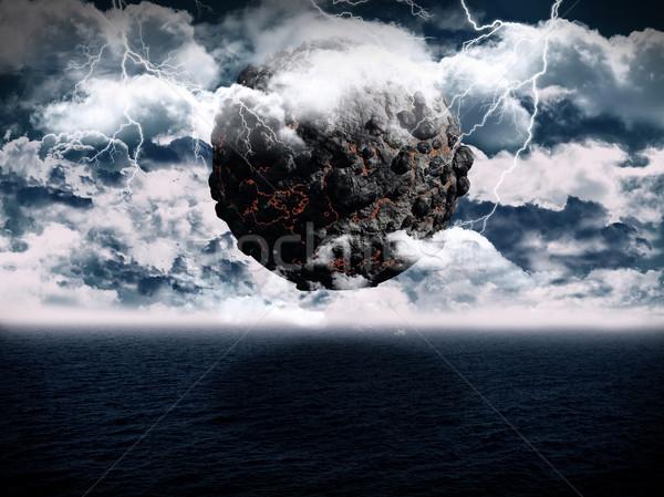 сюрреалистичный планеты океана сцена 3d визуализации вулканический Сток-фото © kjpargeter