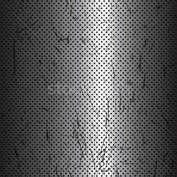 Stock fotó: Fém · textúra · fém · háttér · sötét · karcolás · illusztráció