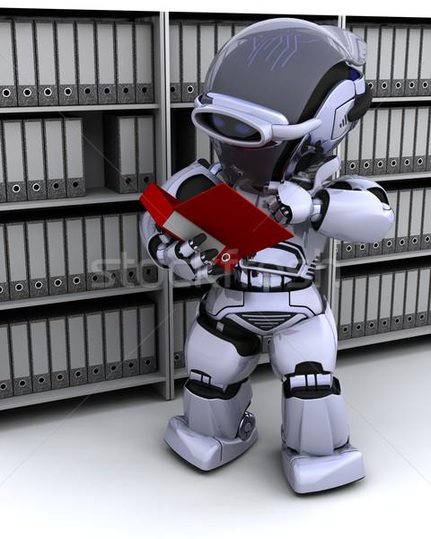 robot filing documents Stock photo © kjpargeter