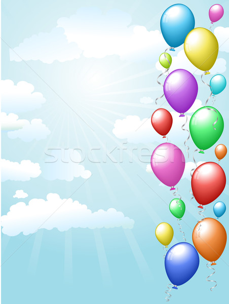 Balloons floating in the sky Stock photo © kjpargeter