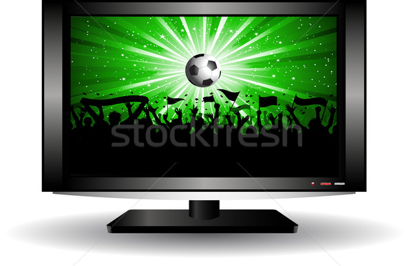 football crowd on LCD television  Stock photo © kjpargeter