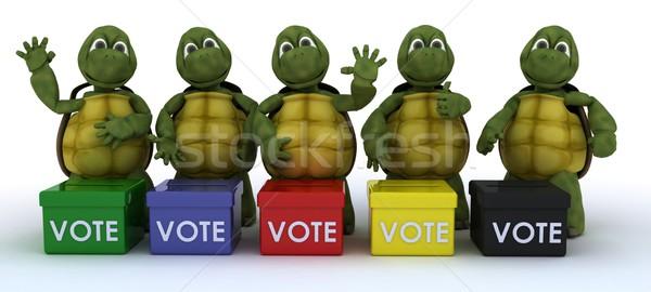 Verkiezing 3d render oceaan shell milieu politiek Stockfoto © kjpargeter