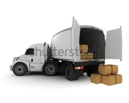 Oversized Cartoon Truck Stock photo © kjpargeter