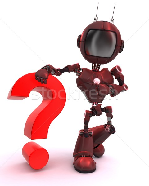 Android with question mark symbol Stock photo © kjpargeter