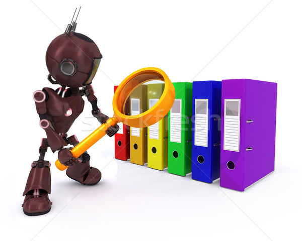 Android searching files Stock photo © kjpargeter