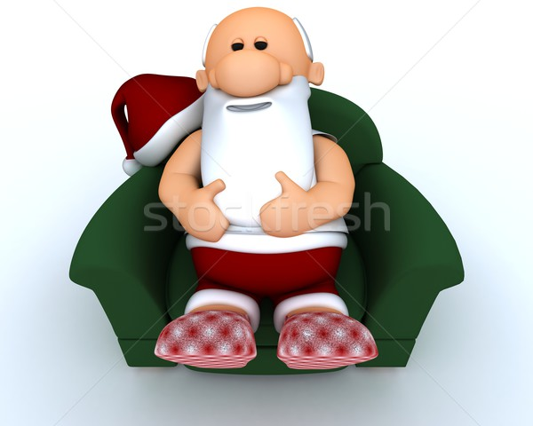 Santa having a day off Stock photo © kjpargeter
