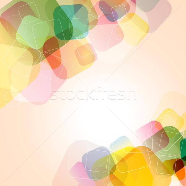 ストックフォト: 抽象的な · 色 · カラフル · 背景 · 広場 · ベクトル