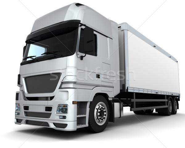Teher házhozszállítás jármű 3d render teherautó utazás Stock fotó © kjpargeter