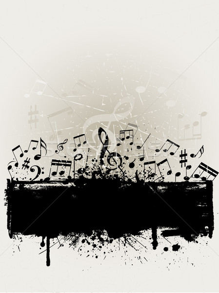 Stock photo: Grunge music