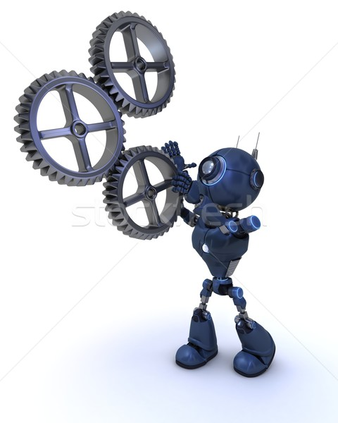Android and gears concept Stock photo © kjpargeter