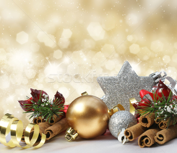 Glittery gold Christmas background Stock photo © kjpargeter