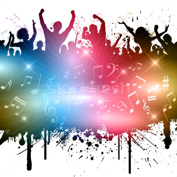 Сток-фото: Гранж · вечеринка · стиль · изображение · люди · музыки · отмечает