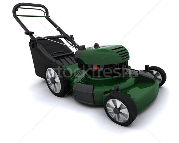 Homme pelouse rendu 3d travaux jardin vert Photo stock © kjpargeter
