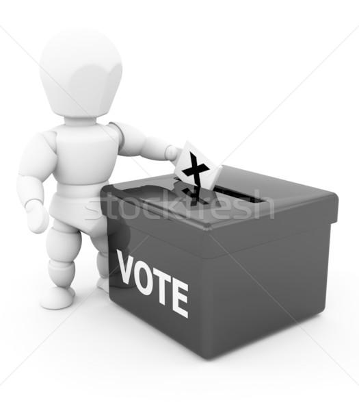 голосование 3d визуализации кто-то женщину человека мужчины Сток-фото © kjpargeter