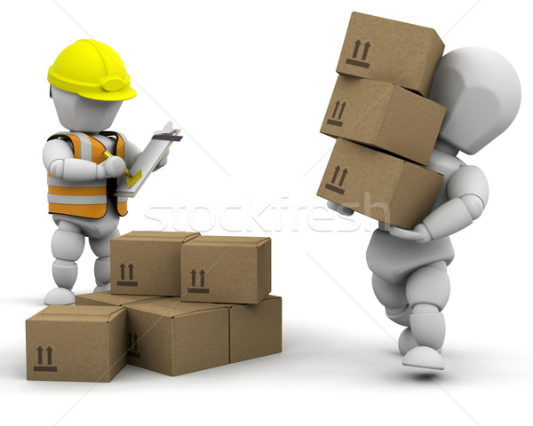 3d removal men Stock photo © kjpargeter