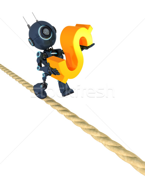 Android on a tight rope Stock photo © kjpargeter