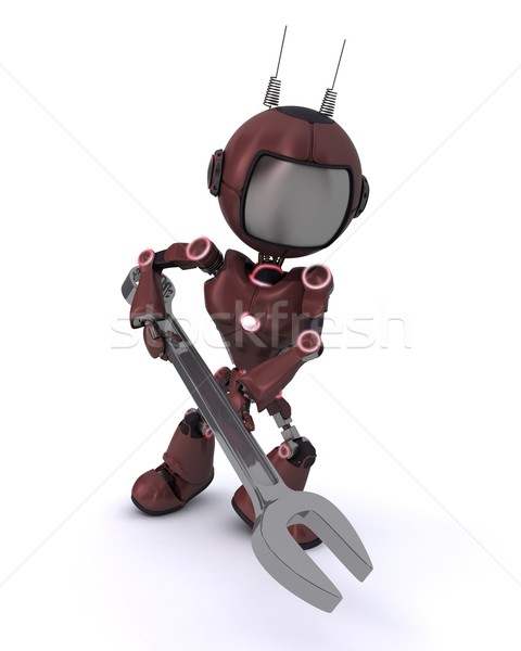 Android with spanner Stock photo © kjpargeter