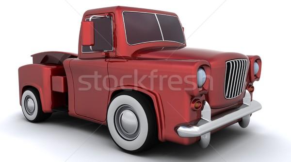 Caricatura 50s camion rendering 3d auto unità Foto d'archivio © kjpargeter