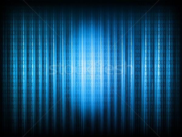 Código binario resumen fondo tecnología vector ilustración Foto stock © kjpargeter