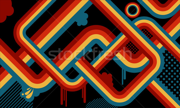 retro abstract  Stock photo © kjpargeter