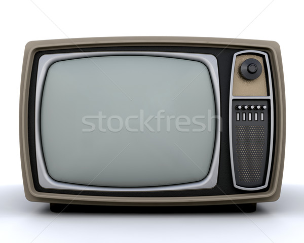 Retro television Stock photo © kjpargeter