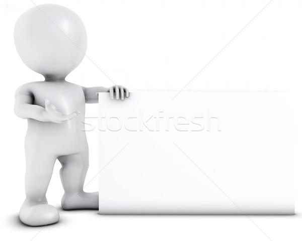 3D человека 3d визуализации знак оратора Сток-фото © kjpargeter