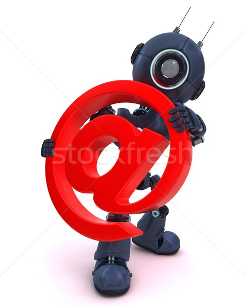 Android e-mail symbool 3d render internet mail Stockfoto © kjpargeter
