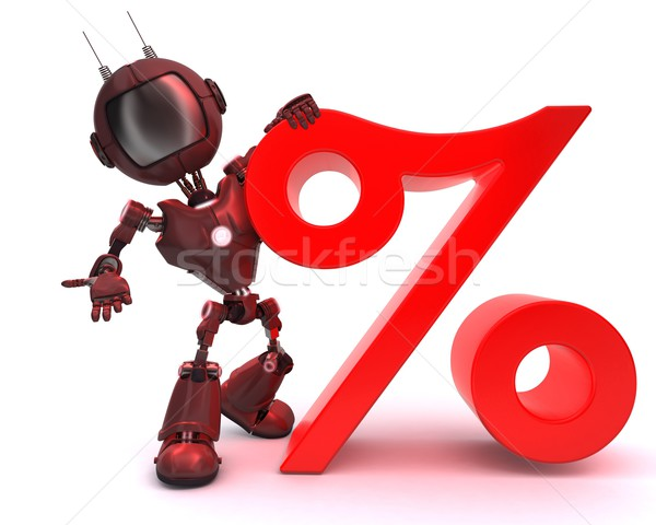 Android with percentage symbol Stock photo © kjpargeter
