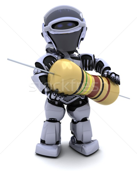 Robot with a resistor Stock photo © kjpargeter