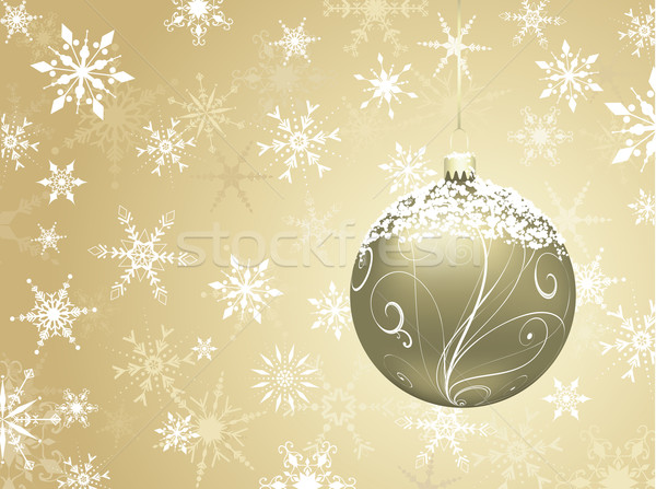 golden christmas background Stock photo © kjpargeter