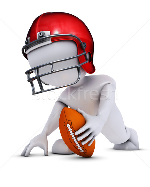 Morph Man playing american football Stock photo © kjpargeter