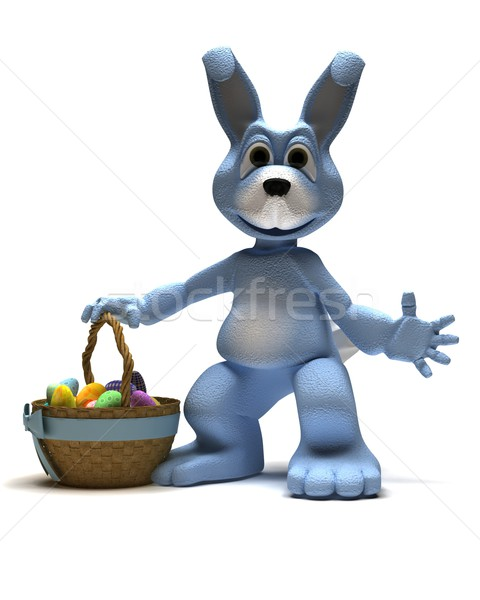 Easter Bunny with Easter Egg Stock photo © kjpargeter