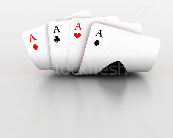 playing cards Stock photo © kjpargeter