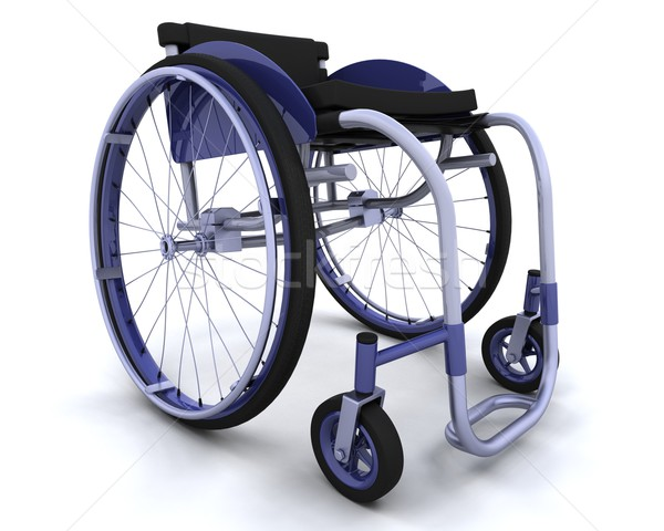wheelchair isolated on white Stock photo © kjpargeter
