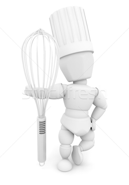 Chef with whisk Stock photo © kjpargeter