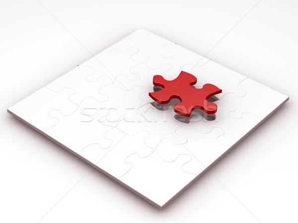 Finale pièce rendu 3d puzzle jouet jeu Photo stock © kjpargeter