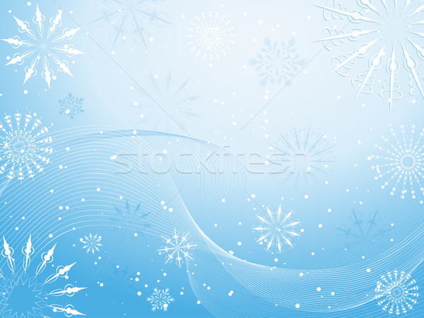 Fundamenteel winter star viering sneeuwvlok vector Stockfoto © kjpargeter