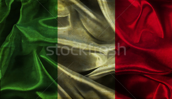 Grunge Italian flag background Stock photo © kjpargeter