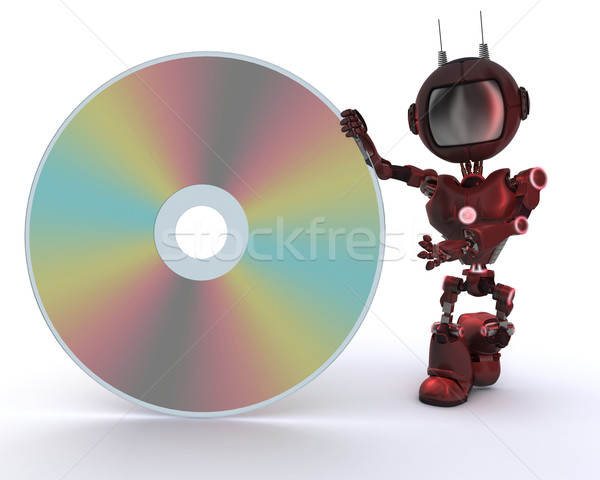 Android dysku 3d film technologii robot Zdjęcia stock © kjpargeter