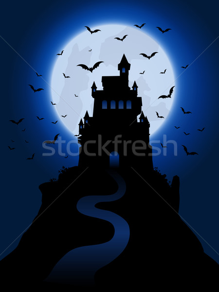 Halloween haunted house background Stock photo © kjpargeter