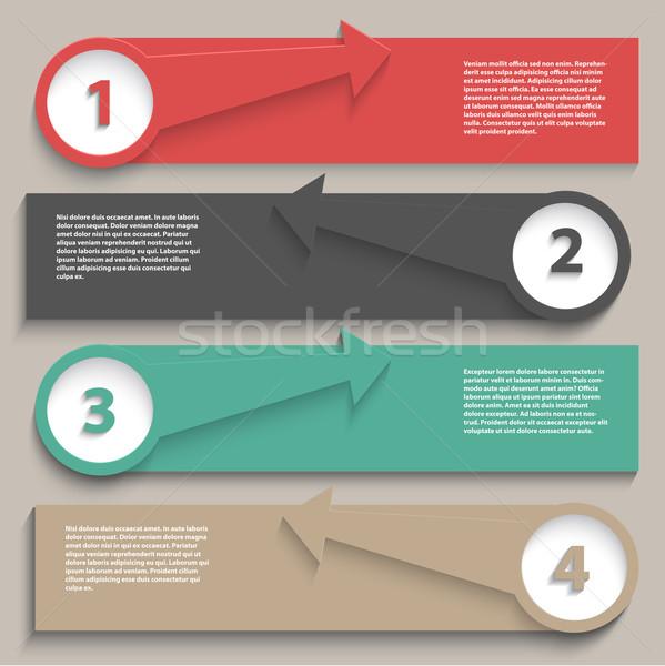 インフォグラフィック レイアウト 現代 デザイン 背景 ウェブ ストックフォト © kjpargeter