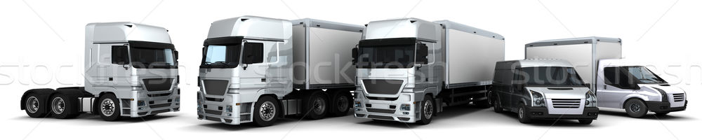 Fleet of Delivery Vehicles Stock photo © kjpargeter
