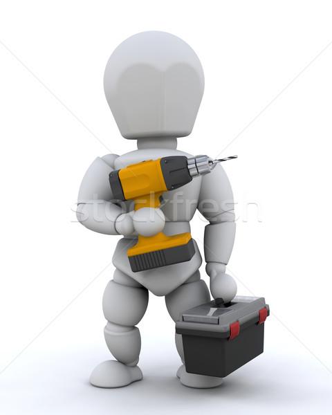 3d визуализации инструменты работу рабочих работник Сток-фото © kjpargeter