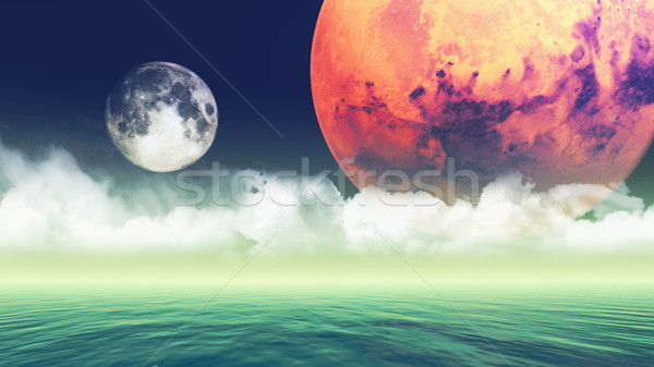 Abstract planets background Stock photo © kjpargeter