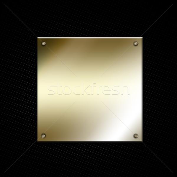 Metal brillante marco textura fondo oro Foto stock © kjpargeter