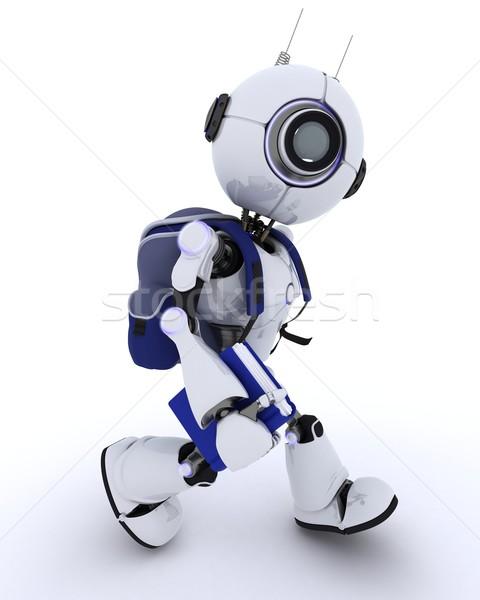 Android school zak 3d render man Stockfoto © kjpargeter