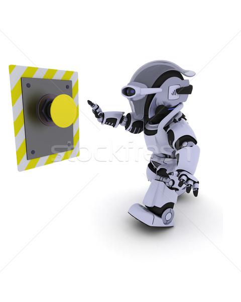 робота кнопки 3d визуализации будущем современных Сток-фото © kjpargeter