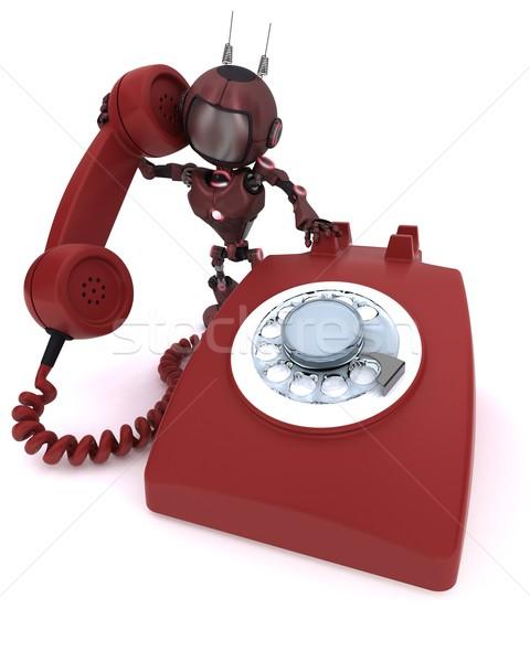 Androide teléfono 3d hombre Foto stock © kjpargeter