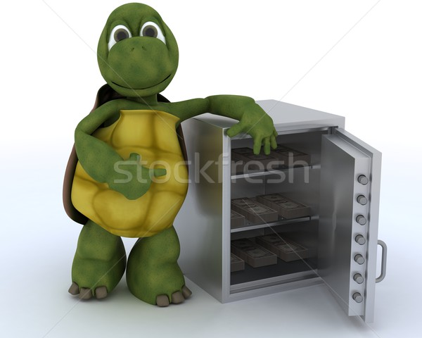 tortoise with a safe full of money Stock photo © kjpargeter