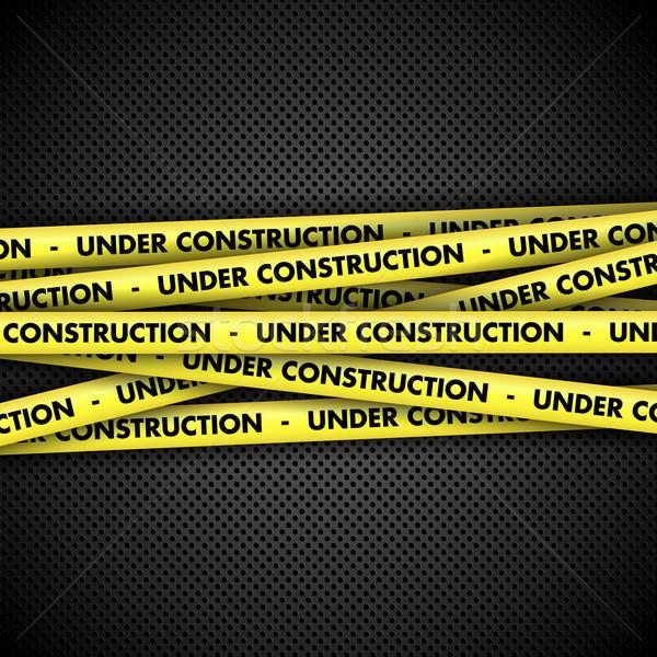 építkezés szalag fém figyelmeztetés textúra háttér Stock fotó © kjpargeter